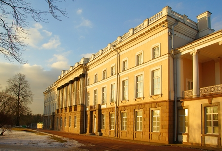 Zubov wing, Catherine Palace, evening in March Editorial