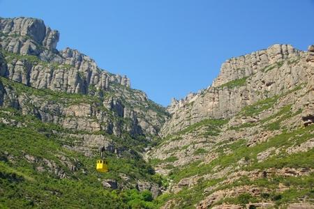Cableway in Monestir Santa Maria de Montserrat
