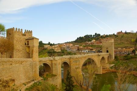 toledo: Puente de Alcantara in Toledo in Spain