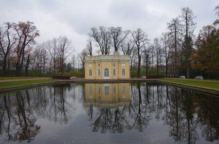 pool halls: Autumn in the Catherine Park in Tsarskoye Selo, Upper Bath