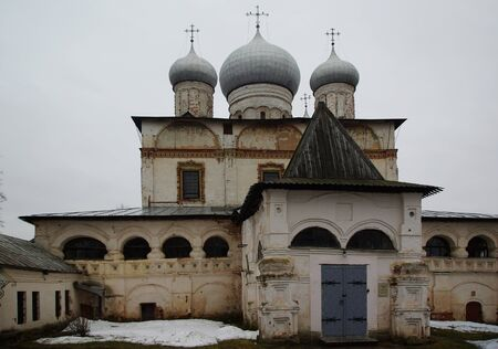 veliky: Znamensky Cathedral in Veliky Novgorod, Ancient Russian architecture Editorial