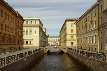 pavers: The may Sunny day and Winter canal in St. Petersburg