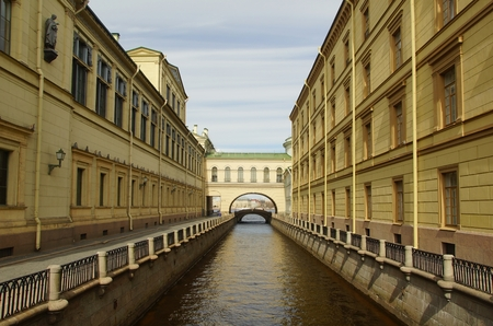 pavers: May day and the Winter canal in St. Petersburg