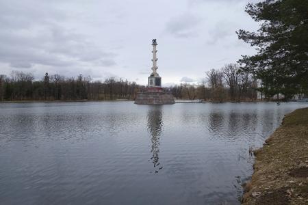 by catherine: Chesme column in Catherine Park in Tsarskoye Selo