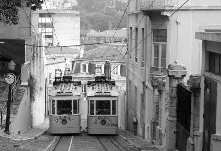 gloria: Gloria Funicular in Lisbon Stock Photo