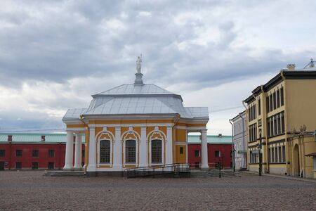 Boat house at the Peter and Paul Cathedral in St. Petersburg
