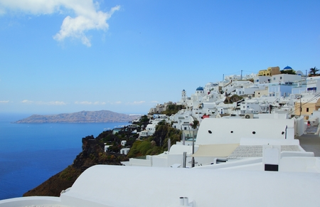 The fabulous city of Fira on the island of Santorini, Greece Stock Photo