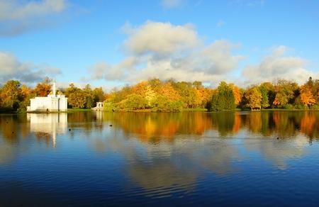 October morning at Catherine Park in Tsarskoe Selo