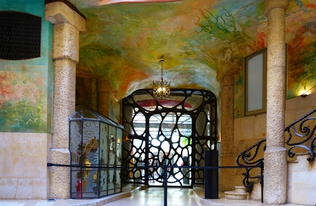 Fragment of the interior of an apartment building in the Art Nouveau style in Barcelona, Casa Mila Gaudi