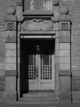 The entrance to the Art Nouveau style in a residential building on Fontanka in St. Petersburg