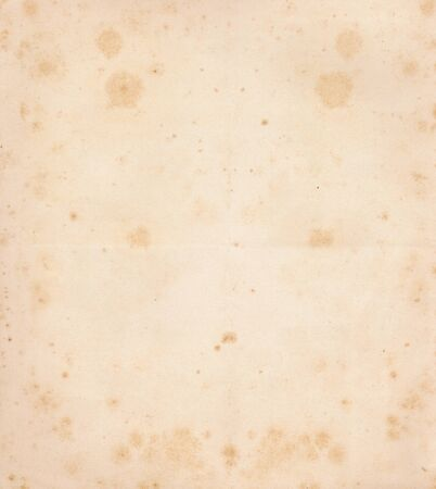 Old paper with spots of the late 19th century