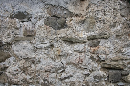 The old wall was built of stone
