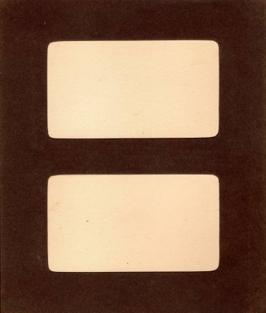Page with windows for photos from the album of the late 19th century