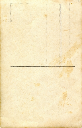 Reverse side of an old postal card photo
