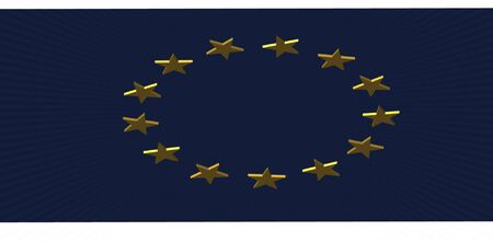 render of the EU flag Stock Photo - 16691716