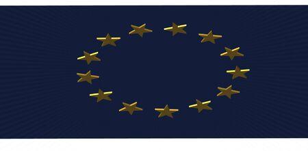 render of the EU flag Stock Photo - 16691716