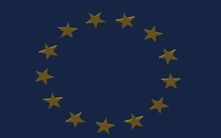 render of the EU flag