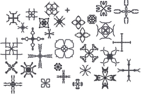 Elements of ornament for design in retro style black on white background Stock Photo - 16771278
