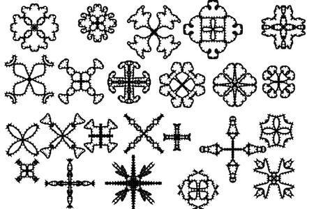 Elements of ornament for design in retro style black on white background Stock Photo - 16771275