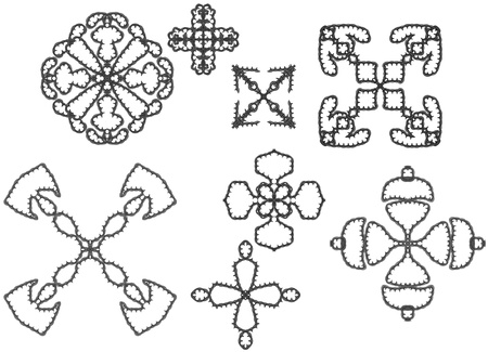 Elements of ornament for design in retro style black on white background Stock Photo - 16771272