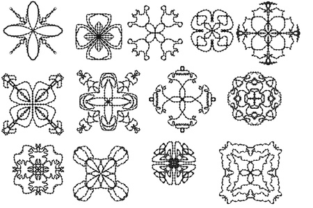 Elements of ornament for design in retro style black on white background Stock Photo - 16771276