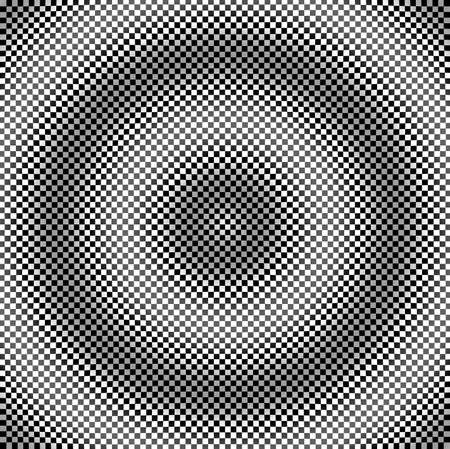 The geometric pattern of deception to effect it Stock Photo