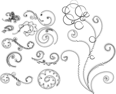 elements of floral ornamen Vector