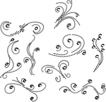 Ornament Flowers Vintage Design Elements Stock Vector - 17156013