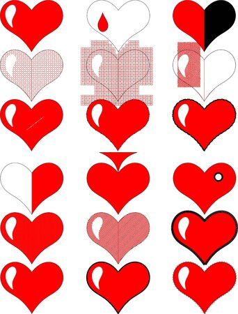 Valentine hearts on Valentine s Day on a white background