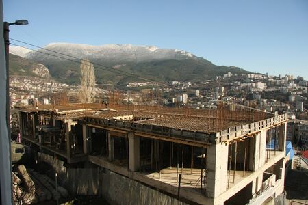 Ukraine, Crimea Yalta city 2012 - 2013 year construction apartment building