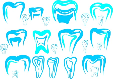 logo tooth for dental clinics drawn on a white background