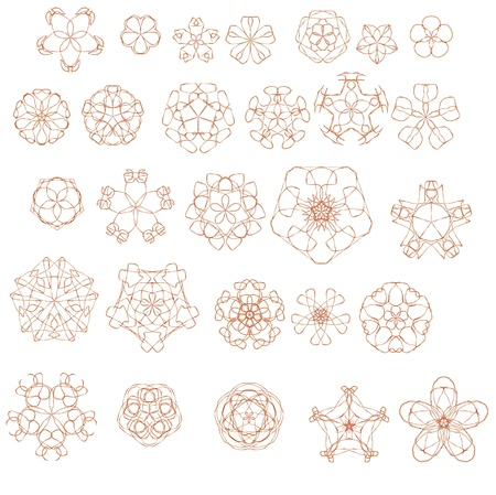 geometric pattern on a white background for design Stock Photo