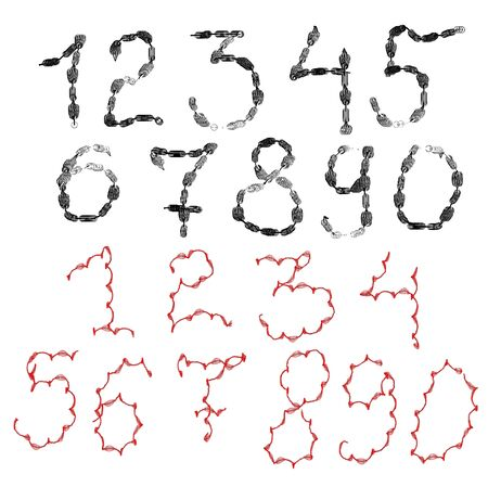 number of different texture on a white background for design Stock Photo