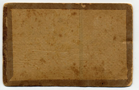Antique Photo reverse side for processing letters and scrapbooking Stock Photo
