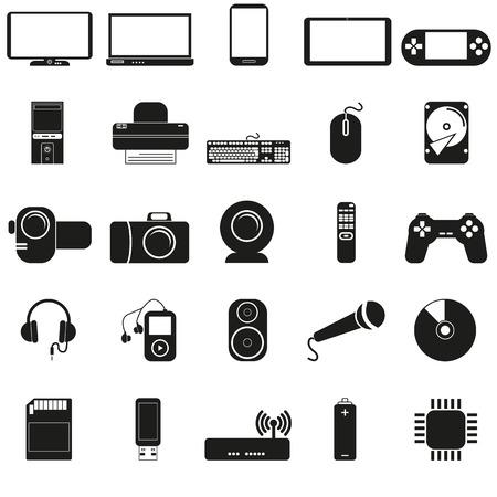 electronics icons Vektorové ilustrace