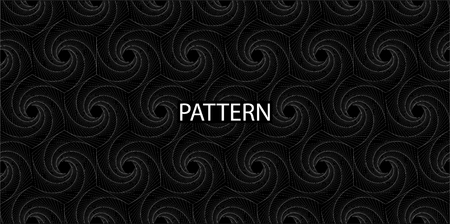 Seamless Pattern. Black - white rhombic spiral for your design. Ethnic, floral, retro, doodle, vector, tribal design element. Vector Pattern
