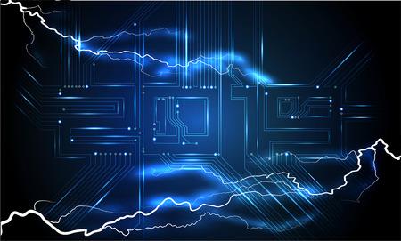 Modern futuristic template for 2019.  Technology Microprocessor. Futuristic vector illustration background. Circuit Board 2019 Stock Vector - 112627483