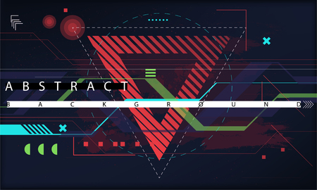 Trendy abstract background. Composition of geometric shapes. Futuristic Vector illustration