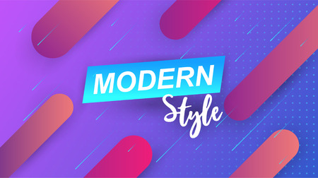 Minimal geometric background. Simple shapes with trendy gradients. Vector illustration.