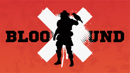 Apex legends, Bloodhound character, battle royale concept, vector illustration in grunge style. Apex legends, character Bloodhound Illustration