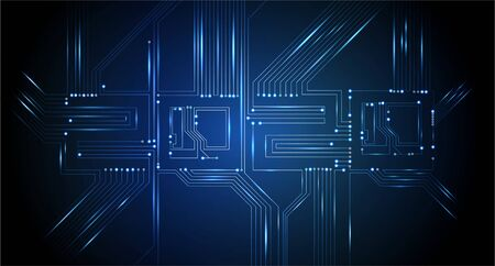 Circuit Board 2020, Technology CPU, Microprocessor Interface. Futuristic Vector Background. Circuit Number Digital Concept. PCB Illustration Happy New Year 2020 写真素材 - 131980715