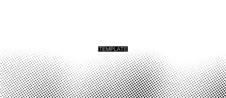 Monochrome printing raster. Abstract vector halftone background. Vector illustration. Black and white texture of dots