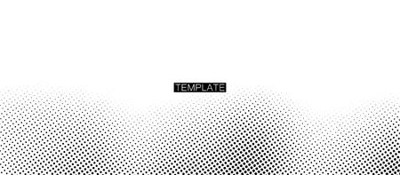 Trame d'impression monochrome. Fond de demi-teinte vecteur abstrait. Illustration vectorielle. Texture noire et blanche de points
