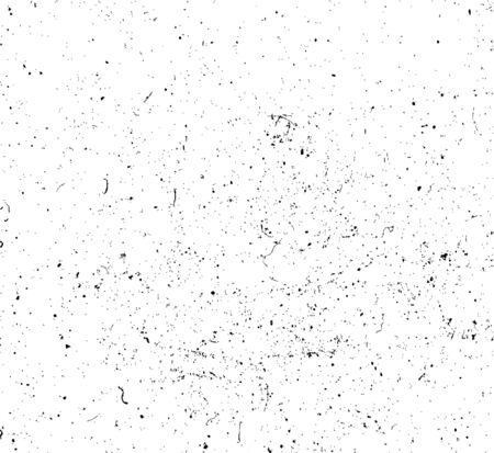 Drop ink splashes texture background. Dirty grainy stamp. Black and white spray texture. Overlay illustration over any design to create grunge vintage effect and depth. Vector illustration Illustration