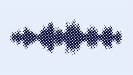 Abstract Monochrome printing raster. Sound wave equalizer. Abstract vector halftone background. Modern texture from points. Vector illustration