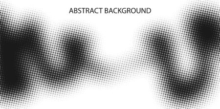 Monochrome points abstract background. Printing raster. Dotted illustration. Abstract vector halftone background. Monochrome Vector illustration. Black and white texture of dots  イラスト・ベクター素材