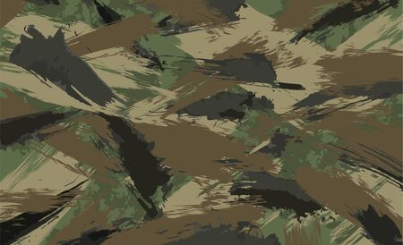 Camouflage background, made of brush strokes, vector illustration Brushstroke