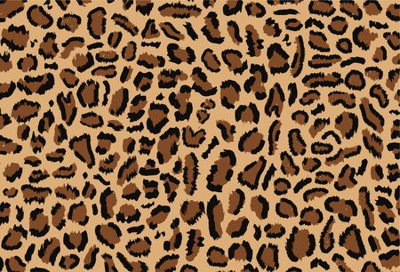 Leopard pattern design, vector illustratin, trendy background, Leopard fur pattern seamless real hairy texture. Animal design. Brown, orange, yellow