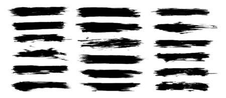 Brush strokes set, isolated collection with high quality trace. Diagonal grunge design elements. Brush strokes. Abstract texture grunge for your design. Vector 矢量图像