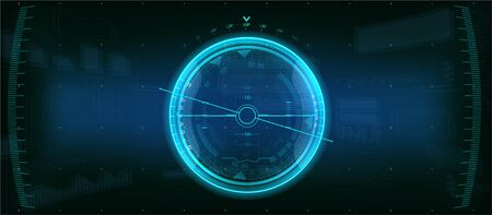 Gadget HUD. Futuristic User Element. The device shows the level of inclination. aircraft device. GUI HUD dashboard interface elements. Spaceship concept